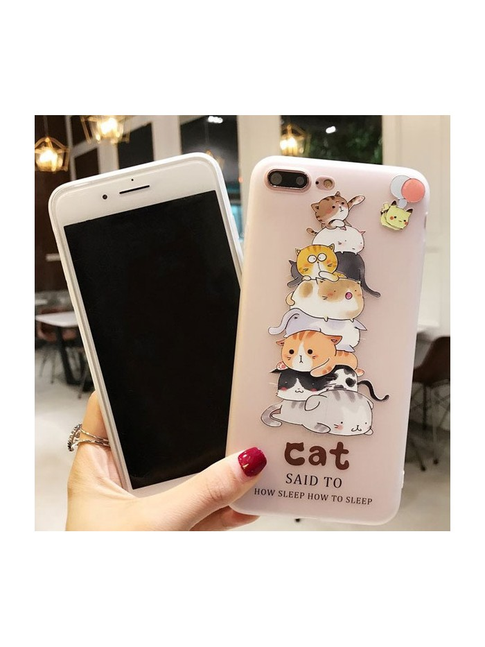 3D iPhone Case - Cats Pyramid
