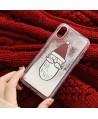 iPhone Santa Claus Liquid Glitter Case