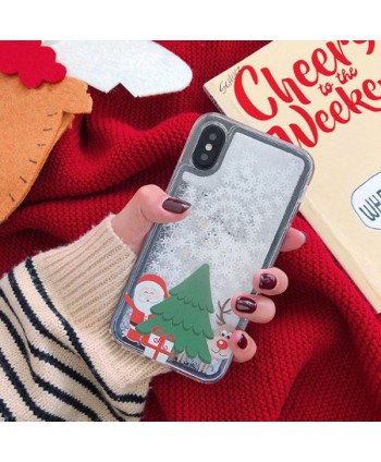 iPhone Christmas Liquid Glitter Case