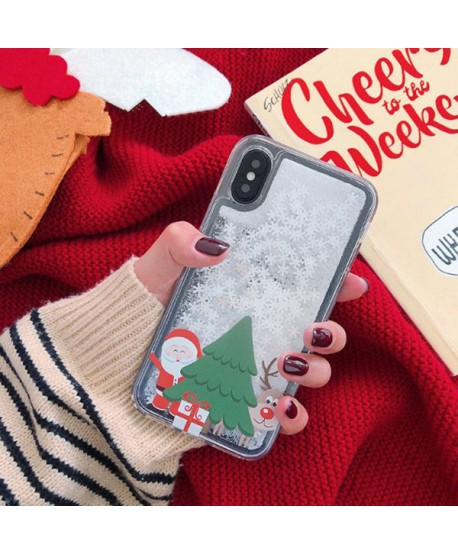 iPhone Christmas Liquid Glitter Case