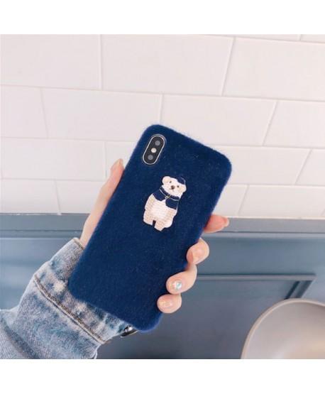 iPhone Fuzzy Bear Protective Case