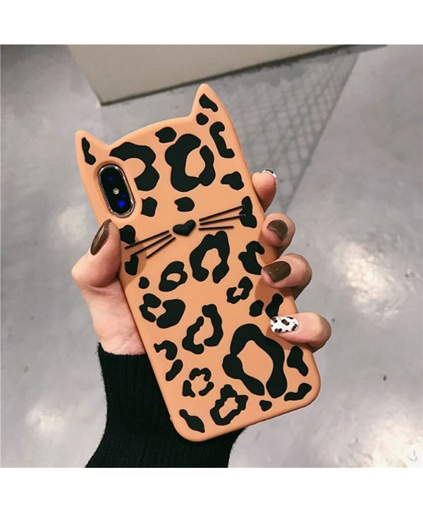 iPhone Leopard Print Kitty Case