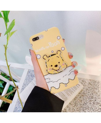 iPhone Winnie The Pooh Liquid Glitter Case