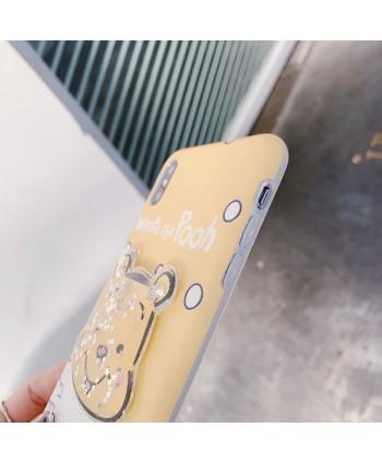 iPhone Winnie The Pooh Liquid Glitter Case