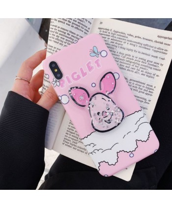 iPhone Piglet Liquid Glitter Case