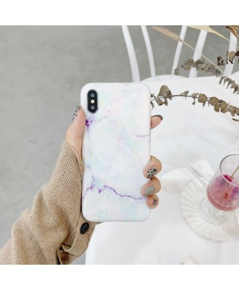 White Marble Effect iPhone Case