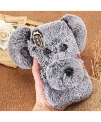 iPhone X 3D Fluffy Fur Puppy Case