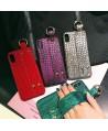 Lux Crocodile Grain iPhone X Case With Strap