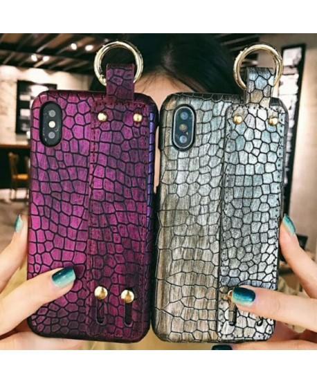 Lux Crocodile Grain iPhone XS Max Case With Strap
