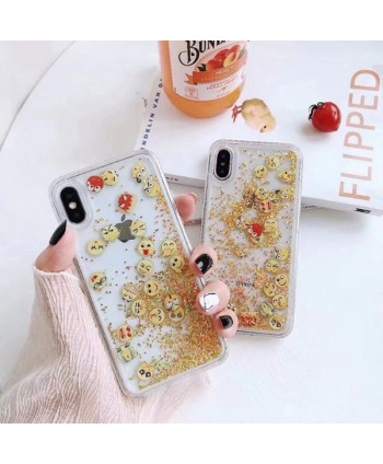 iPhone Emoji Moving Glitter Protective Case