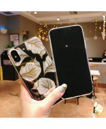 iPhone Bronzing Palm Leaf Protective Case