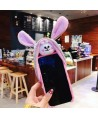 Cute Fluffy Hat Fuzzy Bunny iPhone Case