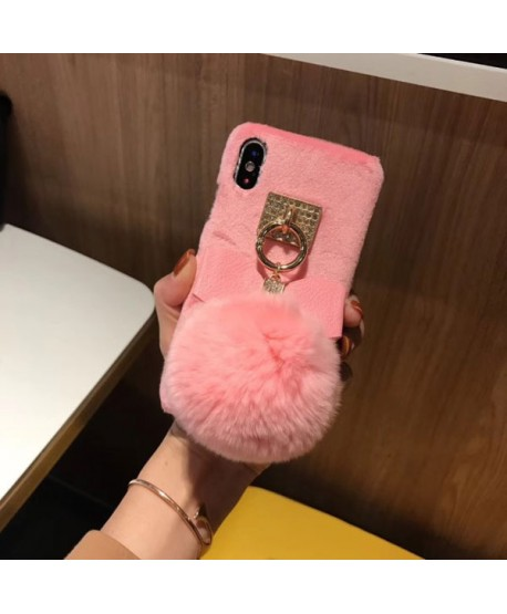 iPhone XS Max Fuzzy Fluffy Ball Protective Case