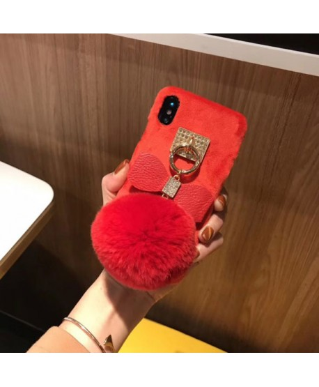 iPhone XR Fuzzy Fluffy Ball Protective Case