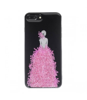 Real Floral iPhone Case - The Girl In Pink Floral Dress