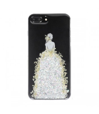 Real Floral iPhone Case - The Girl In Silver Floral Dress