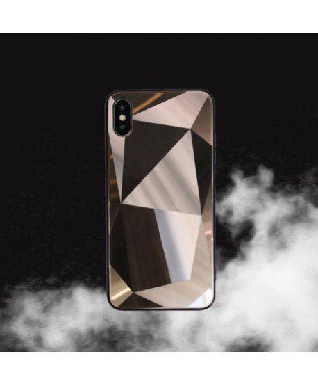 iPhone XS Max Prismatic Diamond Tempered Glass Case