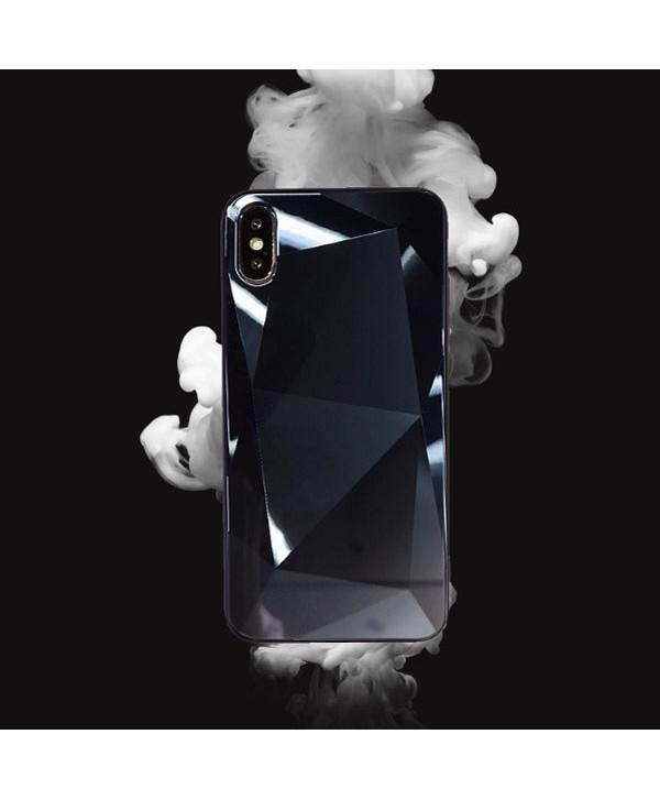iPhone X Prismatic Diamond Tempered Glass Case