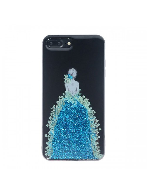 Real Floral iPhone Case - The Girl In Blue Floral Dress