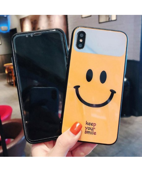 Couple Smiley Face iPhone XS Max Protective Case