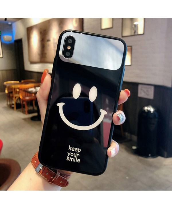 Couple Smiley Face iPhone X Protective Case