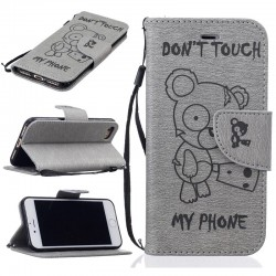 don't touch my phone wallet case b