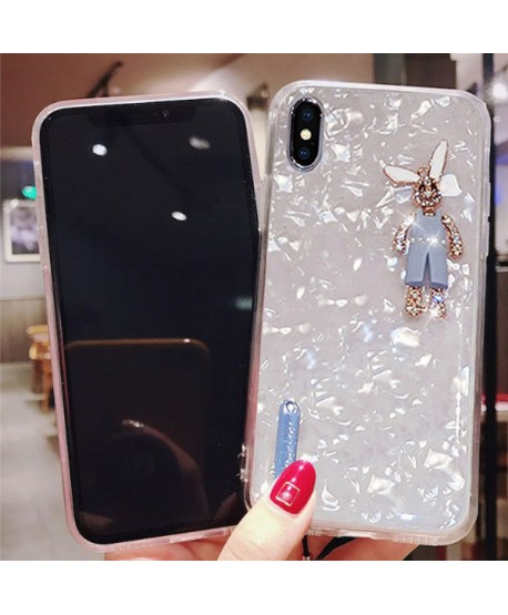 iPhone XS Max Rhinestone Bunny Conch Shell Effect Case