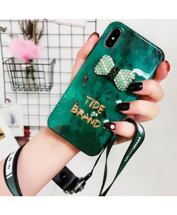 iPhone Emerald 3D Bow Protective Case