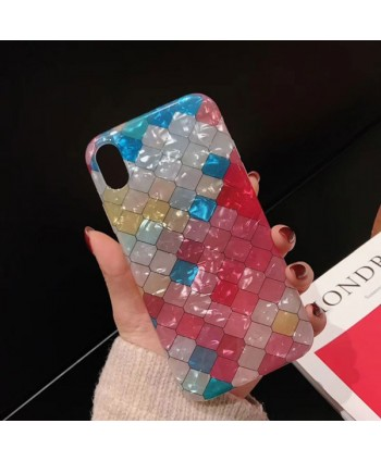 iPhone Colorful Lattice Mermaid Scale Case