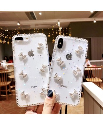 iPhone Clear Rhinestone Bow Case