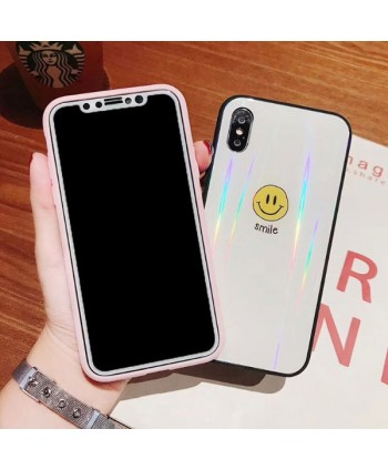 iPhone X Holographic Smiley Face Case