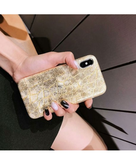 iPhone XS Luxury Crocodile Grain Protective Case
