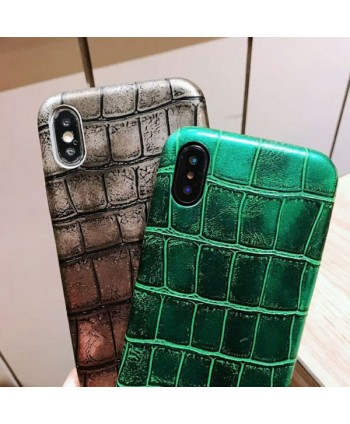 iPhone X Luxury Crocodile Grain Protective Case