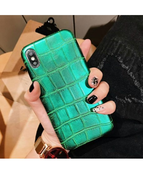 iPhone XR Luxury Crocodile Grain Protective Case