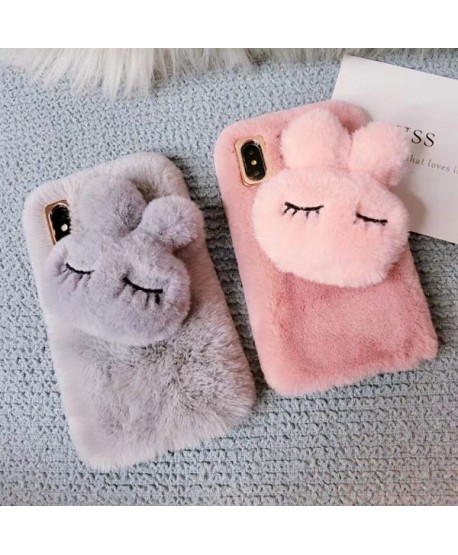 reputable site c6c52 c7aa9 iPhone XS Fuzzy Bunny Protective Case
