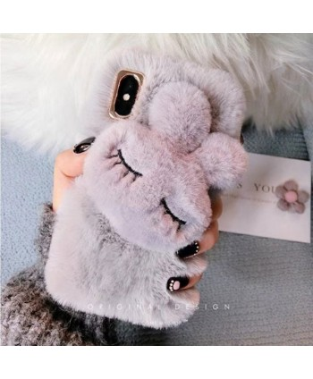 iPhone X Fuzzy Bunny Protective Case