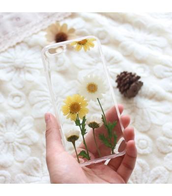 Pressed Flower iPhone Case - Sunflower