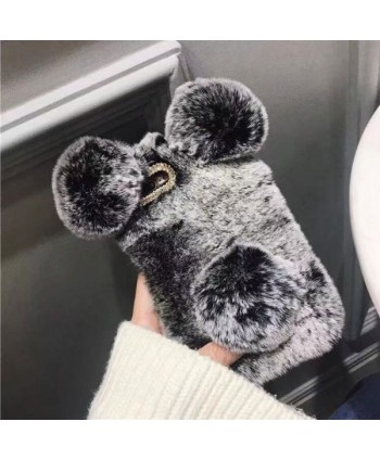 Cute Fluffy Fuzzy Panda iPhone X Case