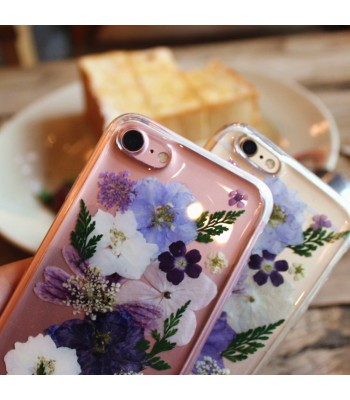 Dried Flower iPhone Case - Purple Flowers Among The Green Leaves