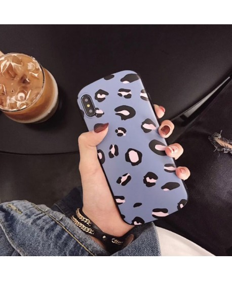 iPhone XR Shield Leopard Print Case Blue