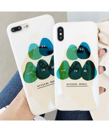 iPhone Glossy Avocado Family Slim Protective Case