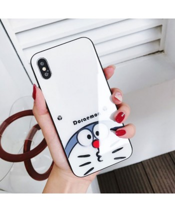 iPhone Slim Doraemon Tempered Glass Case
