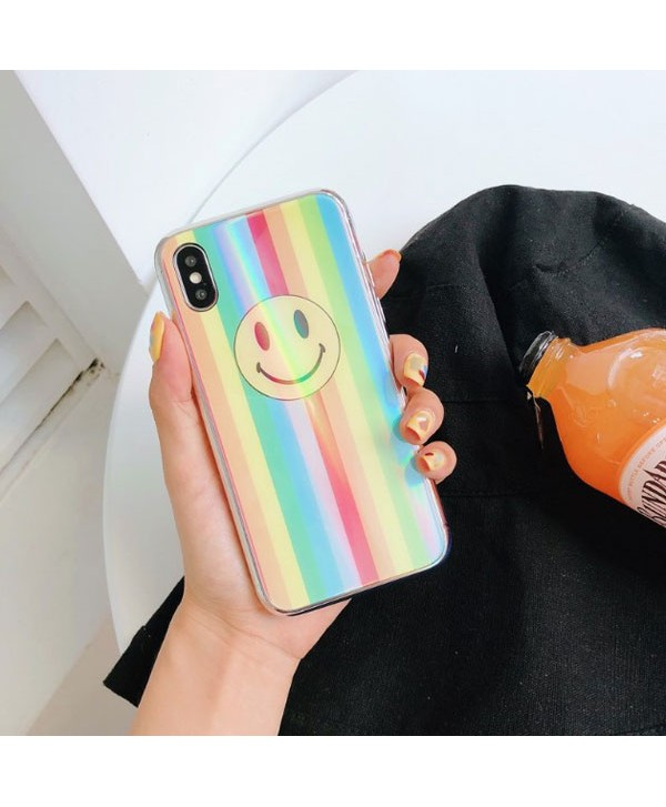iPhone Holographic Iridescent Smiley Face Case