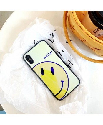 iPhone Blue Ray Smiley Face Protective Case