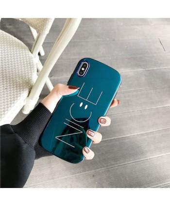 Couple iPhone X Shield Smiley Face Case