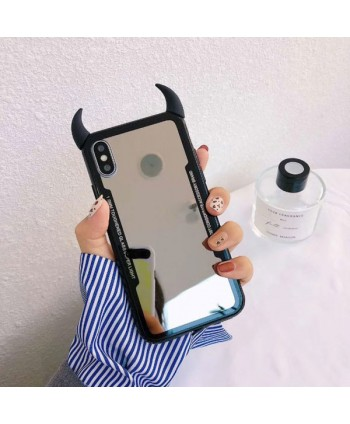 iPhone X Little Devil's Horn Mirror Case