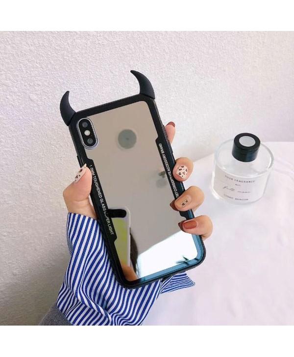 iPhone X Little Devil's Horn Mirror Case