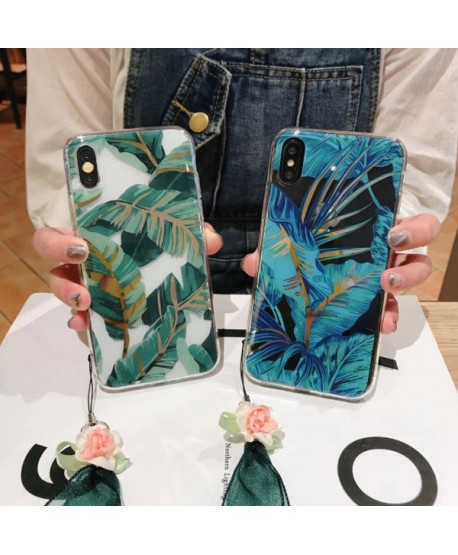 iPhone XS Max Bronzing Banana Leaf Protective Case