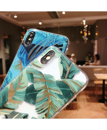 iPhone X Bronzing Banana Leaf Protective Case