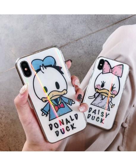 Couple iPhone X Hologram Donald/Daisy Duck Case